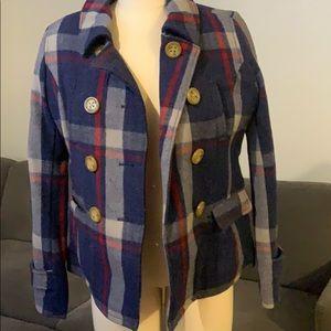AE plaid wool pea coat. Gently worn